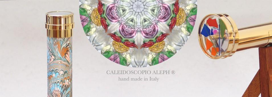 Caleidoscopio Aleph® è il marchio per caleidoscopi di alta qualità, fatti in Italia, apprezzati nel mondo