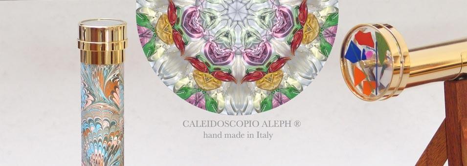 Caleidoscopio Aleph® ist die Marke für hochwertige Kaleidoskope. Von Hand gefertigt in Italien, weltweit geschätzt.